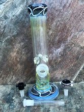 "12"" Thick Straight Neck Sleek Fumed Glass Bong"