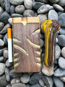 "Best 4"" Wood Dugout with Bat & 3"" Glass Hand Pipe(Colors Vary) - Volo Smoke and Vape"