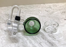 Quartz 18mm Male Honey Bucket with Carb Cap Green Bowl