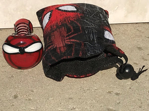 "Collectible 4"" Handmade Best Glass Spider Hand Pipe Drawstring Padded Pouch - Volo Smoke and Vape"