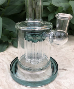"8"" -  8 Arm Tree Percolator in Thick Glass Rig/Pipe with 2 -14mm Male Slide Bowls - Green Smoke"