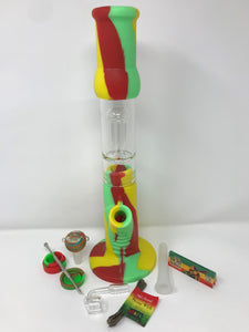 "15"" BEST! Silicone Detachable Tree Perc Water Bong Quartz Bucket Raw Papers Tool - Volo Smoke and Vape"