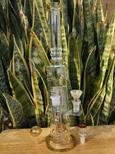 "The Best 16"" Thick Glass Water Bong with 8 Arm Tree Shower Perc in Yellow,  2 - Ice Catchers & 3 - 14mm Male Bowls"