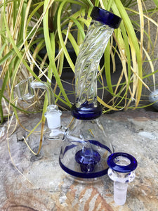 "Best 7.5"" Quality Glass Water Rig Shower Perc Quartz Bucket Herb Bowl"