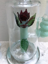 "Collectible 11"" Thick Glass Rig with Glass Flower inside 2 - 18mm Bowls"