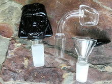 "Thick Glass Best 9.5"" Shower Water Bong Darth Vader Glass Bowl Quartz Bucket - Volo Smoke and Vape"