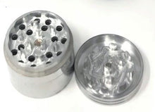 "1.75"" Four-Piece Grinder (SILVER) - Volo Smoke and Vape"