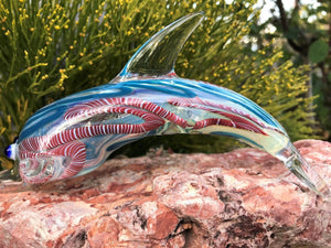 "COLLECTIBLE Pipe 6"" Glass Dolphin ColorsVary +Screens,Wick,Papers - Volo Smoke and Vape"