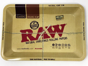 Raw Rolling Papers Tray Mini Metal,3-Packs Organic Papers,Grinder, Wick - Volo Smoke and Vape