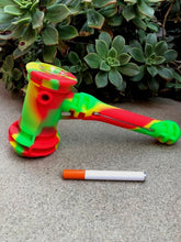 Unbreakable Travel Safe Silicone Hammer in Rasta Colors w/Extras inside - Volo Smoke and Vape