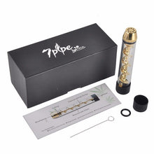 New! Gold Color Tobacco Twisty Glass Blunt with cleaning kit - Volo Smoke and Vape