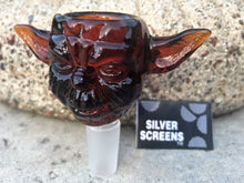 14mm Star Wars Yoda Glass Bowl - Amber + FREE Screens - Volo Smoke and Vape