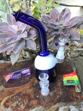 "8"" Hookah Glass Pipe Bong w/ 2 Herb Bowls, Organic Wick, Juicy Papers - Volo Smoke and Vape"