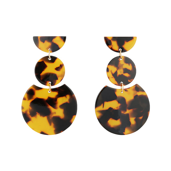 audrey earring tortoishell dangle statement earrings