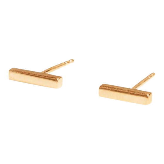 Bar Stud Earring in Gold