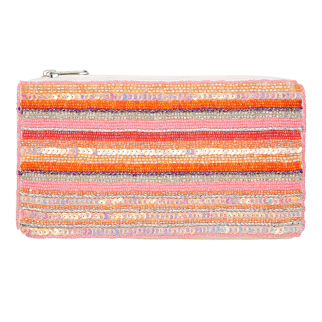 A pefect sequined clutch for your night out.