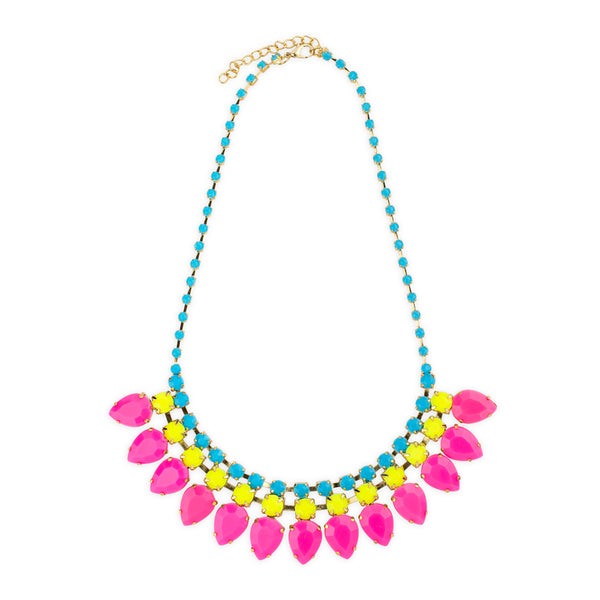 Disco Necklace in Pink by Mint and Moss