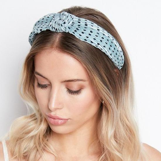 Mint green headband hair accessory