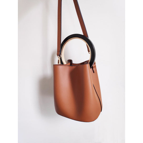 Tan Bucket Bag by Mint & Moss