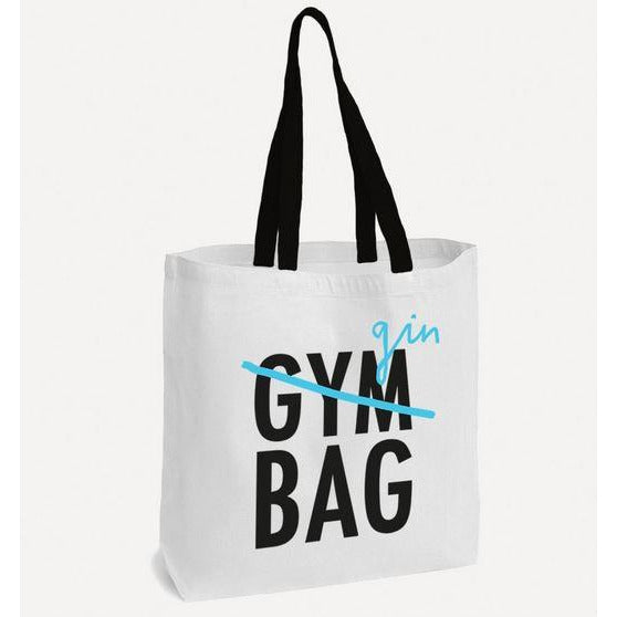 Tote Bag Gin Gym Black and White