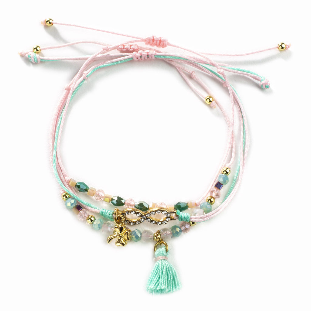Carrie Trio Bracelet - Pink/ Green