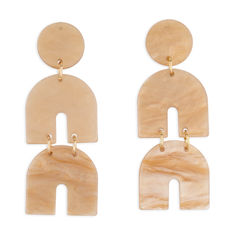 Billie Statement earrings in Nude Acrfylic natural colour