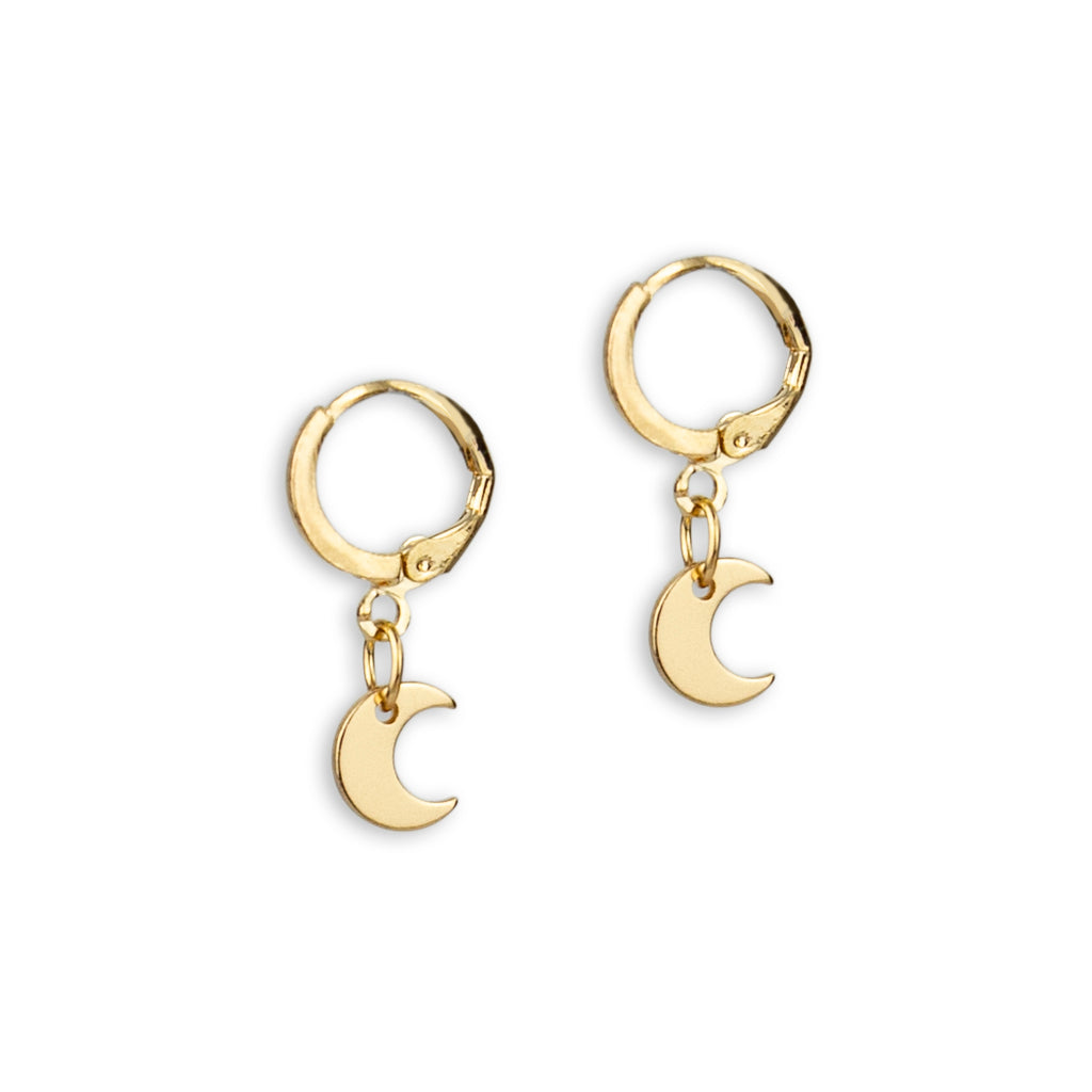 Cosmos Moon Earring in Gold Boho