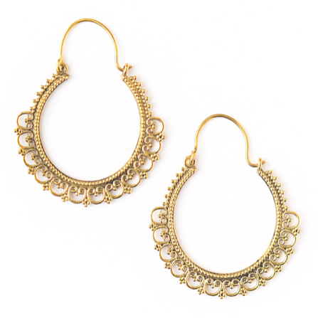 Dayna Hoops in Gold
