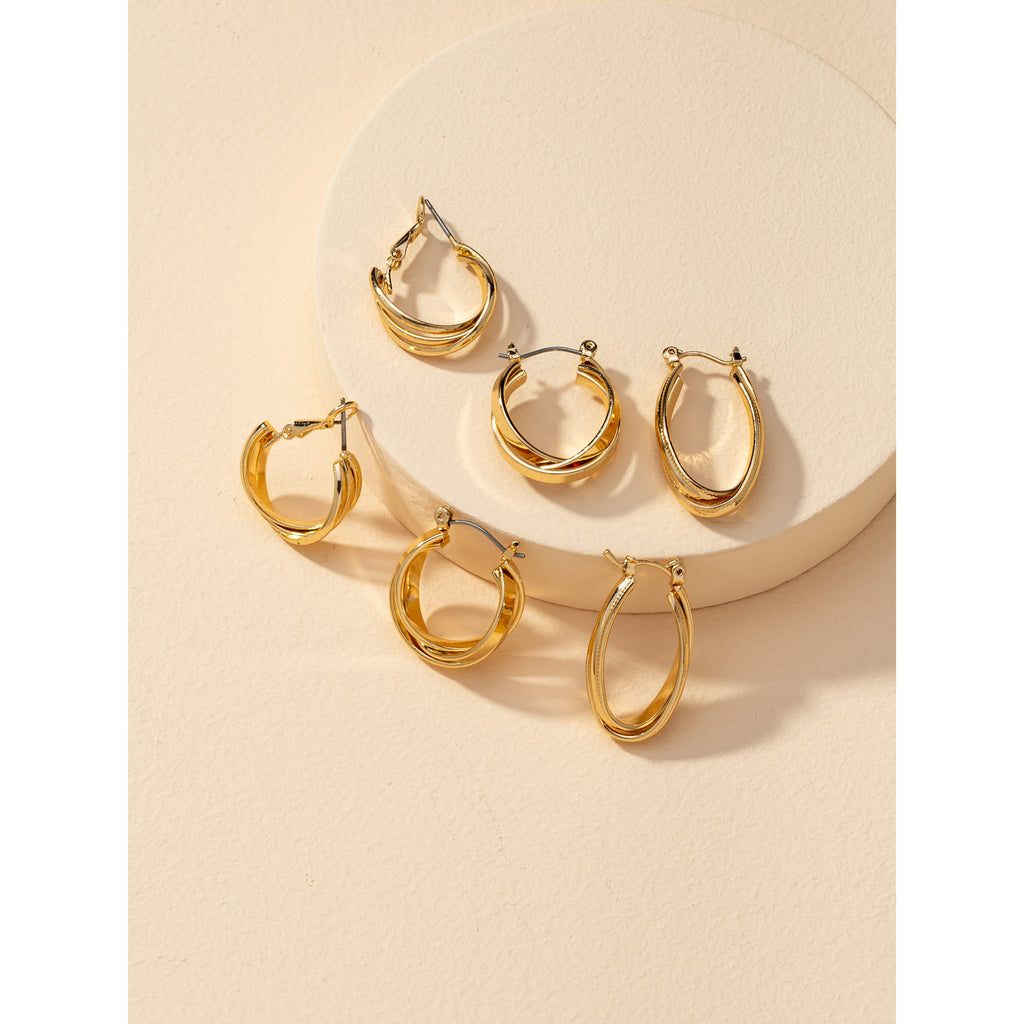 Gold Hoop Trio Pack