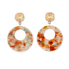 Statement Earring in Autumn colours and multi colour with gemstones