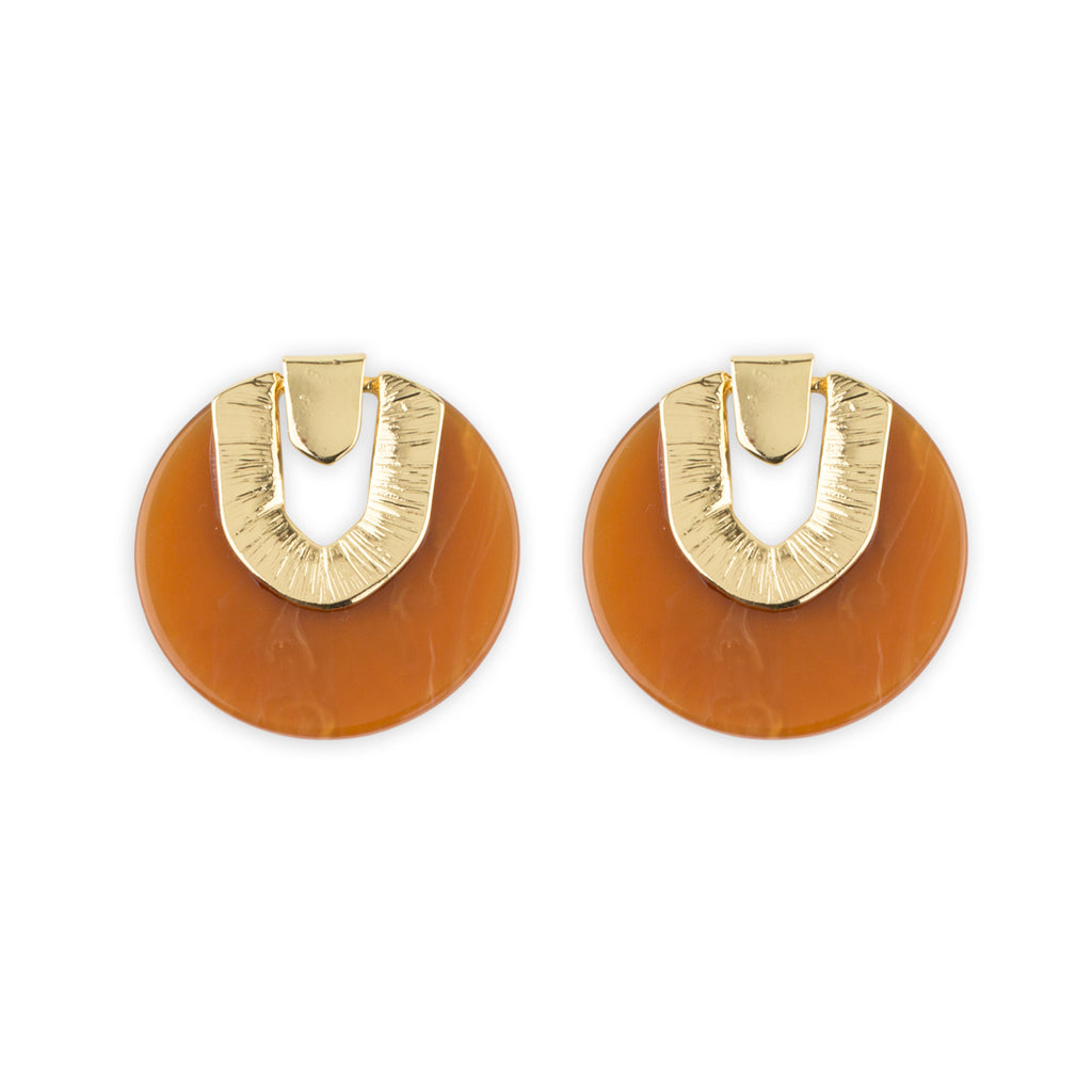 Lincoln Earring in Caramel by Mint and Moss