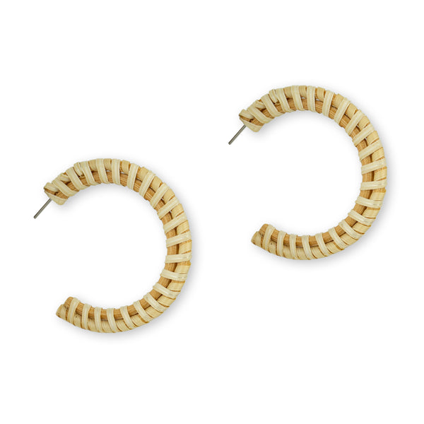Piper Hoops Rattan earring