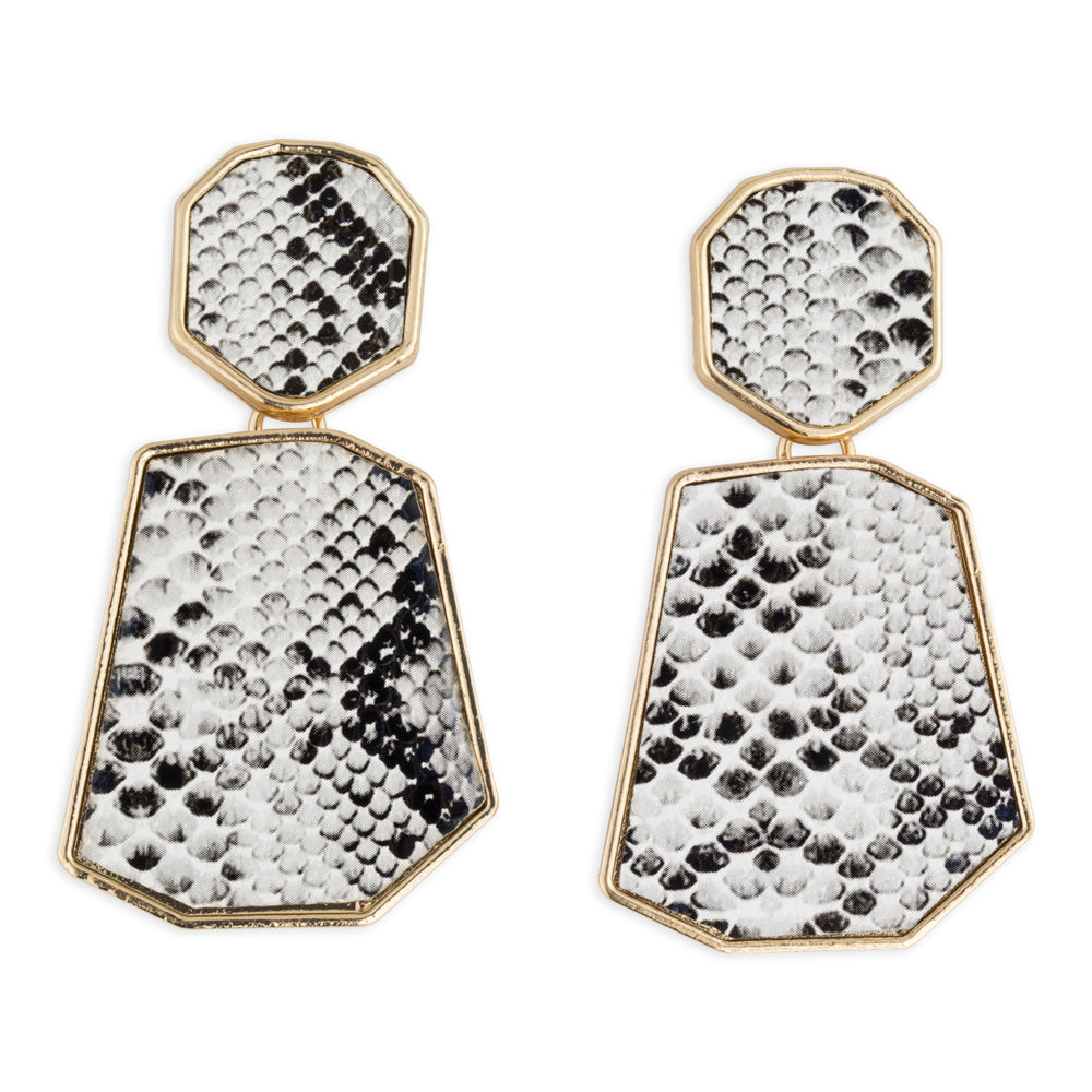Python Snakeprint Statement Earrings