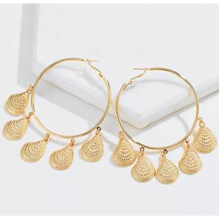 Sea Shell Hoops