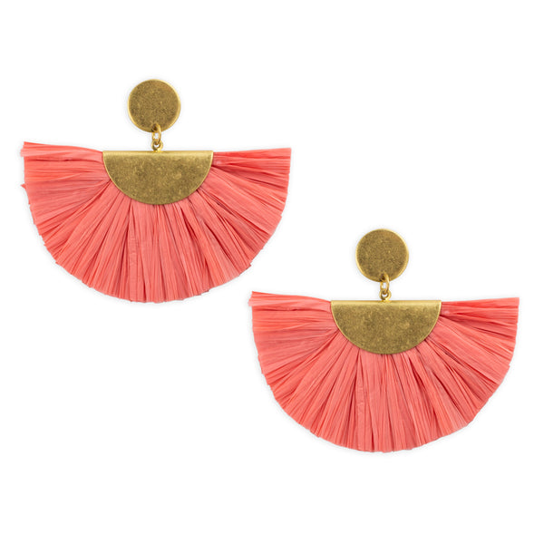 Willa Raffia earring by Mint and Moss