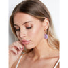 Statement earrings in lilac and gold