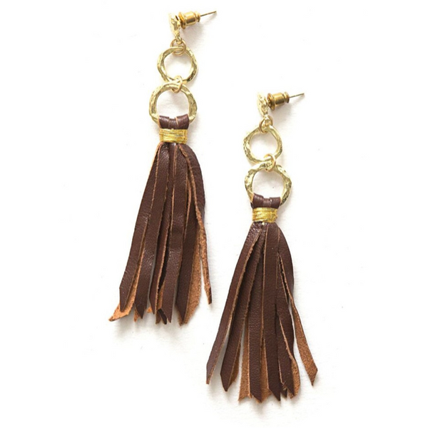 Backwoods Leather Earrings