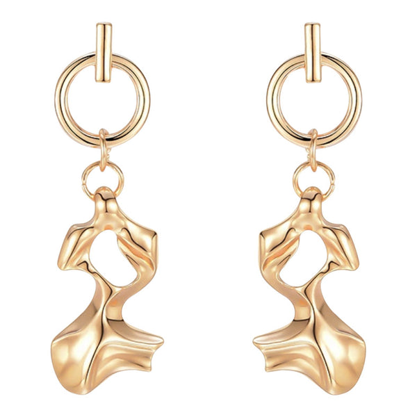 Gold abstract shape earrings