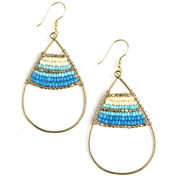 Hidden Treasure Earrings in Blue