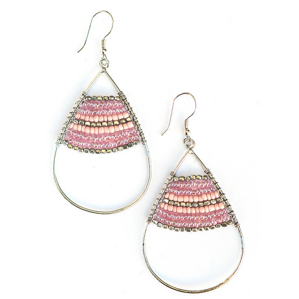 Hidden Treasure Earrings in Pink