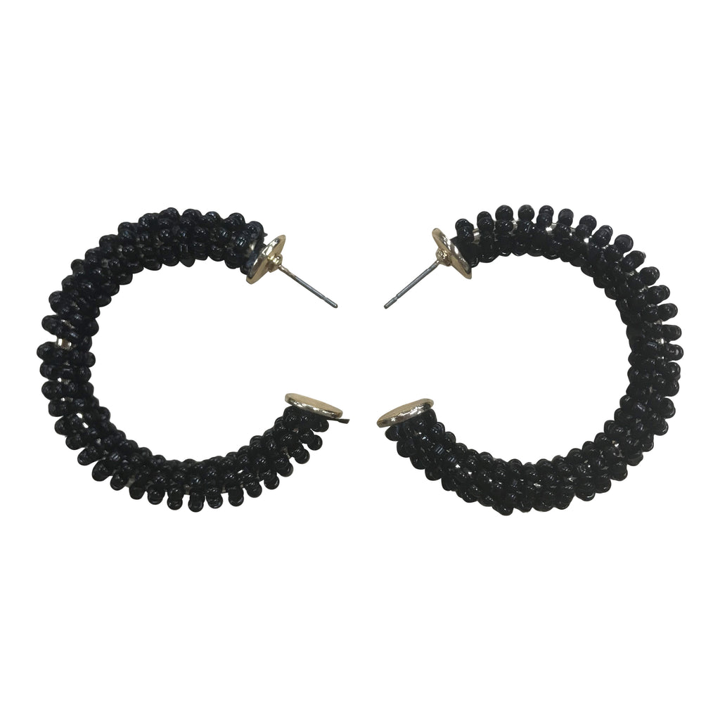 XENA STATEMENT EARRINGS IN BLACK