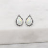 Braided Opal Studs Sterling Silver