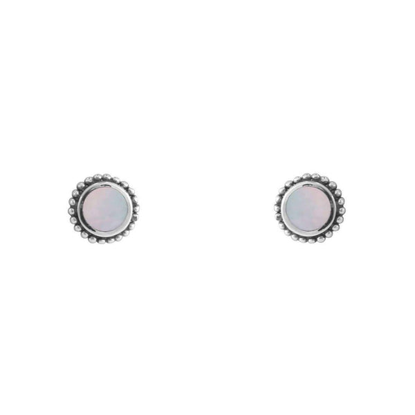 Iridescent Sun Studs Sterling Silver