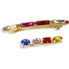 Jewelled Hair Clips in Red