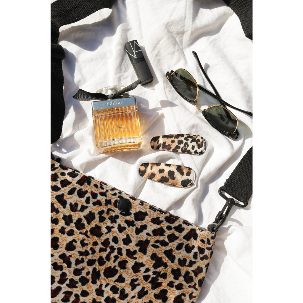 Set of Leopard Hair Clips Light