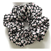 Floral Scrunchie in black