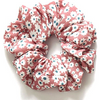 Floral scrunchie in pink