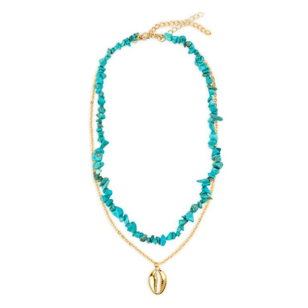 Breeze Necklace in Aqua