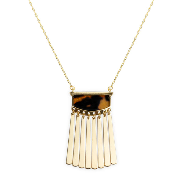 Daphne Pendant Necklace in Tort
