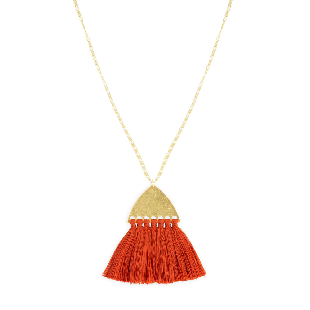Juno Necklace by Mint and Moss Burnt Orange